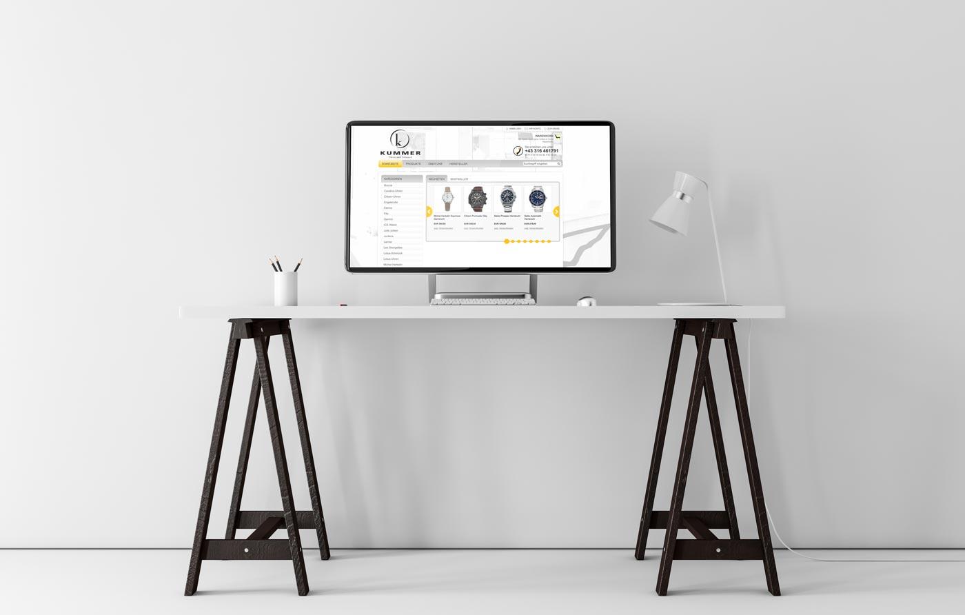 Juwelier Kummer, Referenz Dieter Biernat, Web-Design Graz