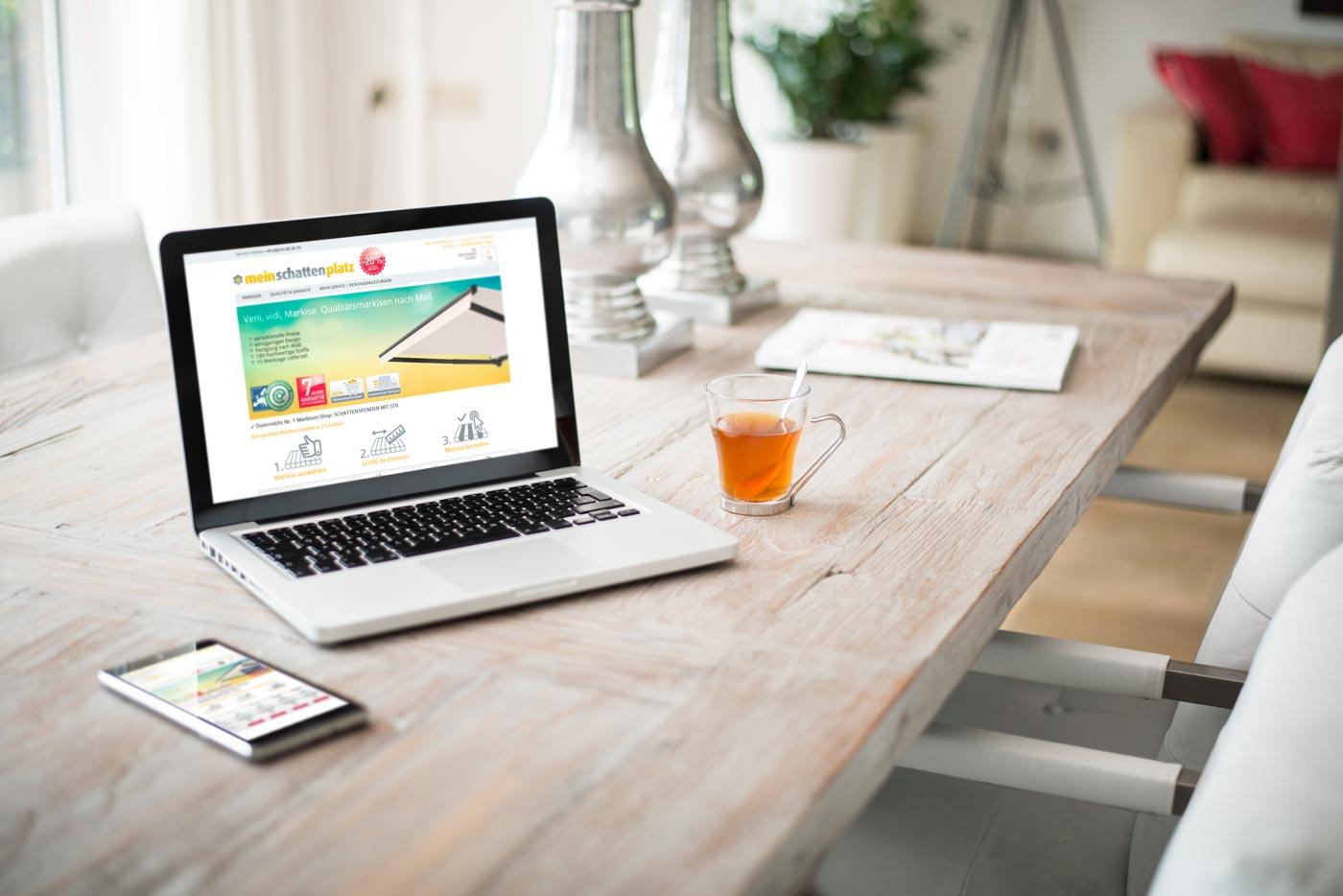Webshop mit Produktkonfigurator von perfect:net, Dieter Biernat, meinschattenplatz.at