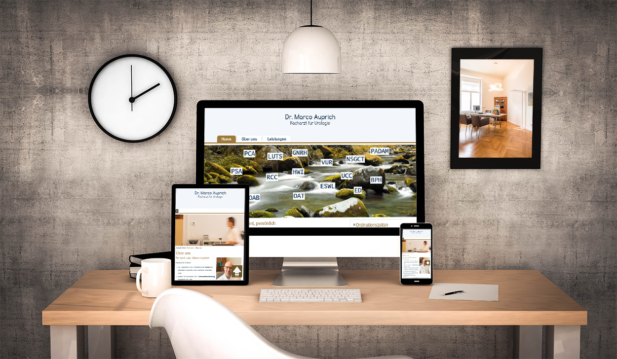 Webdesign aus Graz von perfect:net, Dieter Biernat, urologe-auprich.at