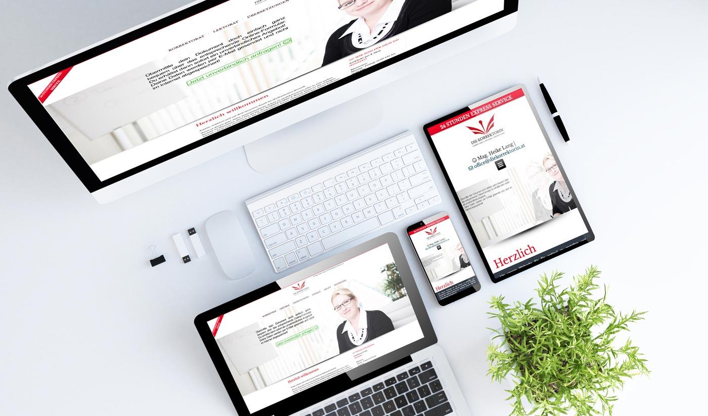 Webdesign aus Graz von perfect:net, Dieter Biernat, diekorrektorin.at