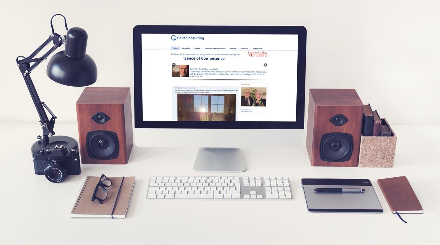 Webdesign von perfect:net, Dieter Biernat, galle-consulting.at