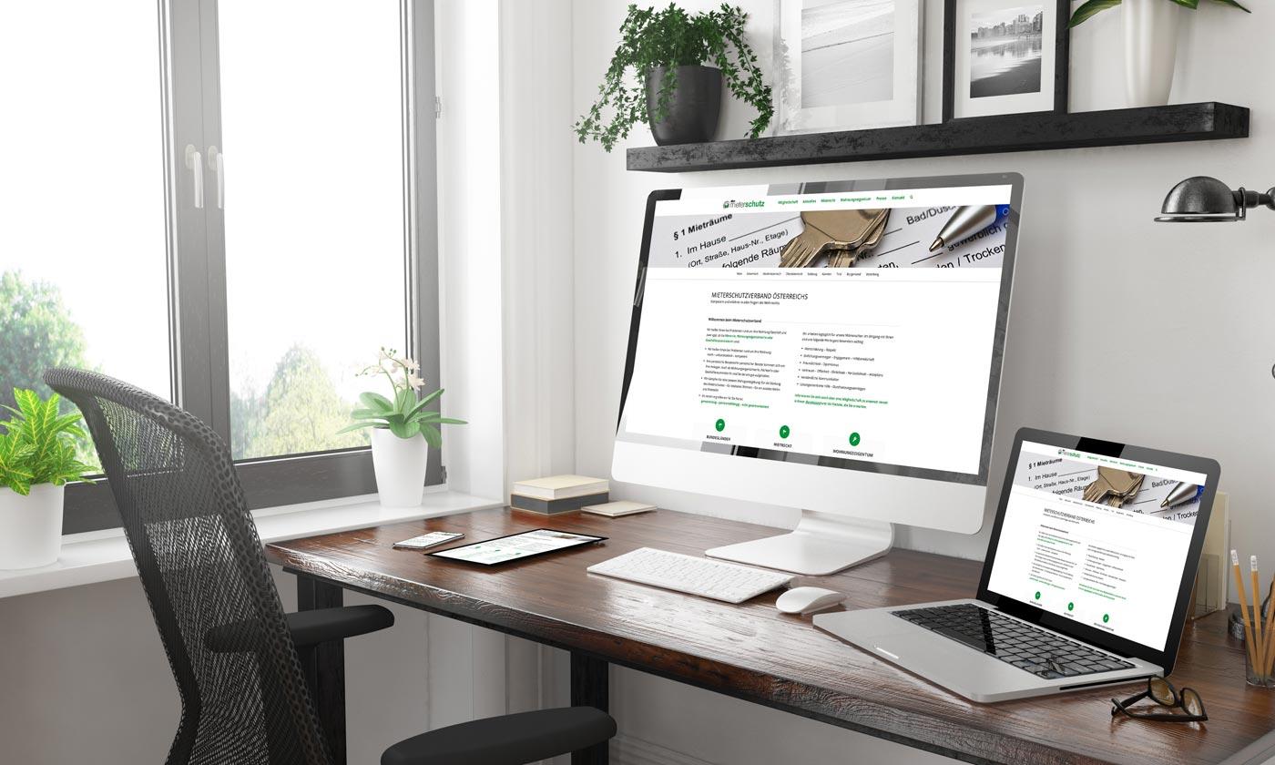 Webdesign Graz: perfect:net, mieterschutzverband.at