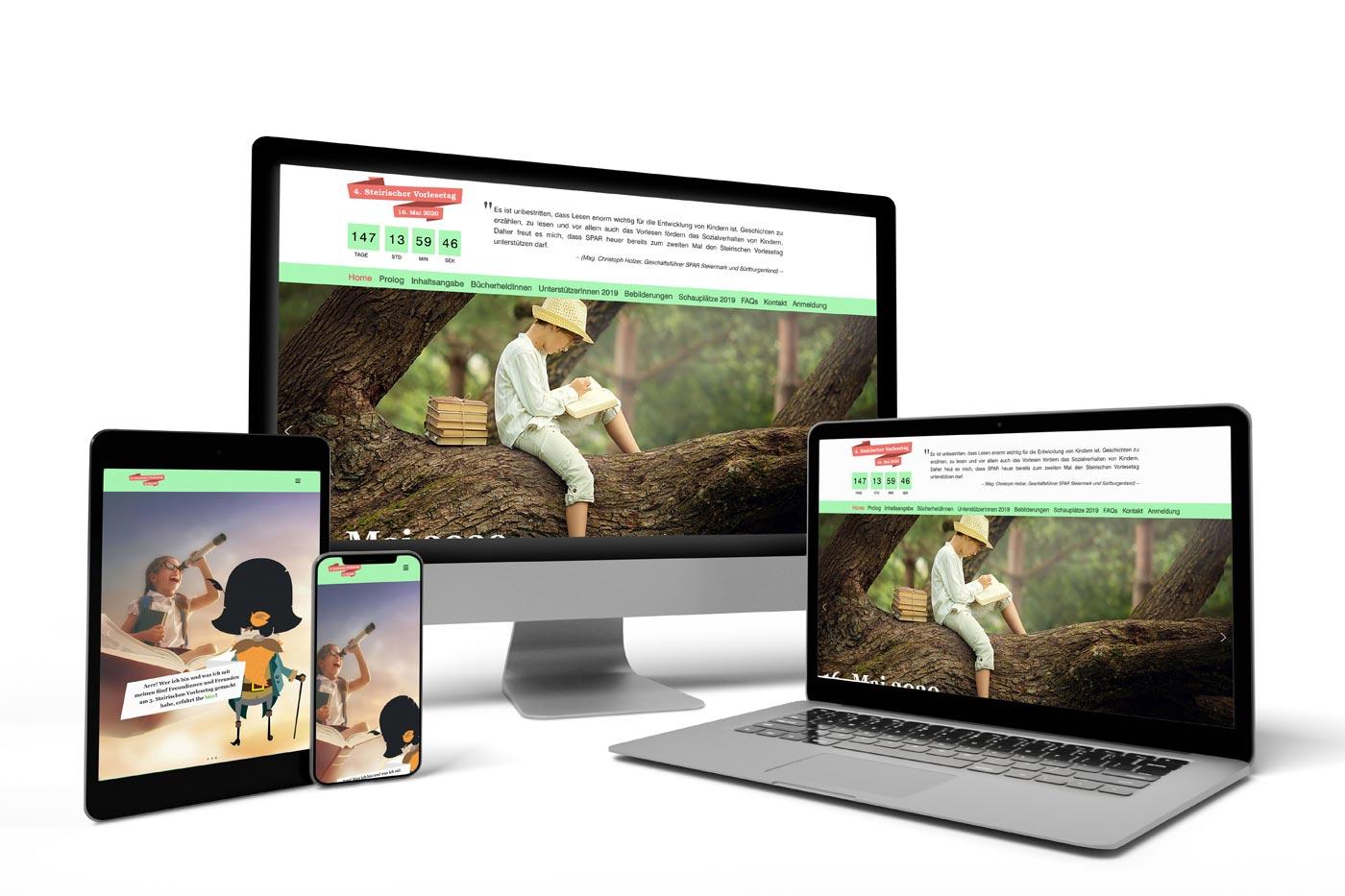 Webdesign Graz: perfect:net, Vorlesetag Steiermark