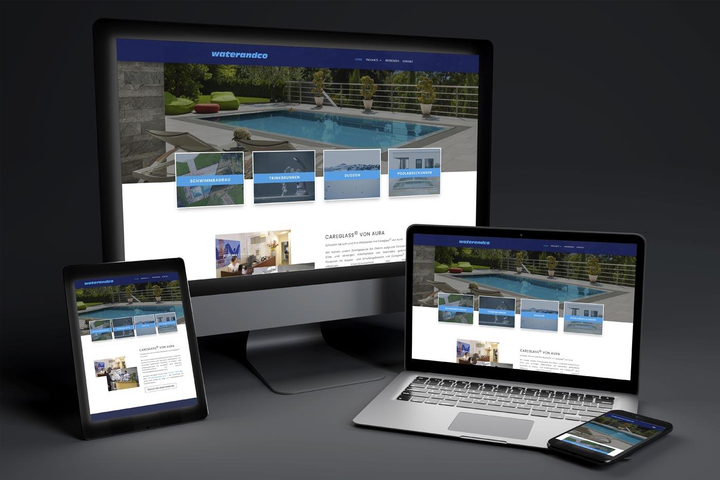 Webdesign Graz: perfect:net, waterandco.at